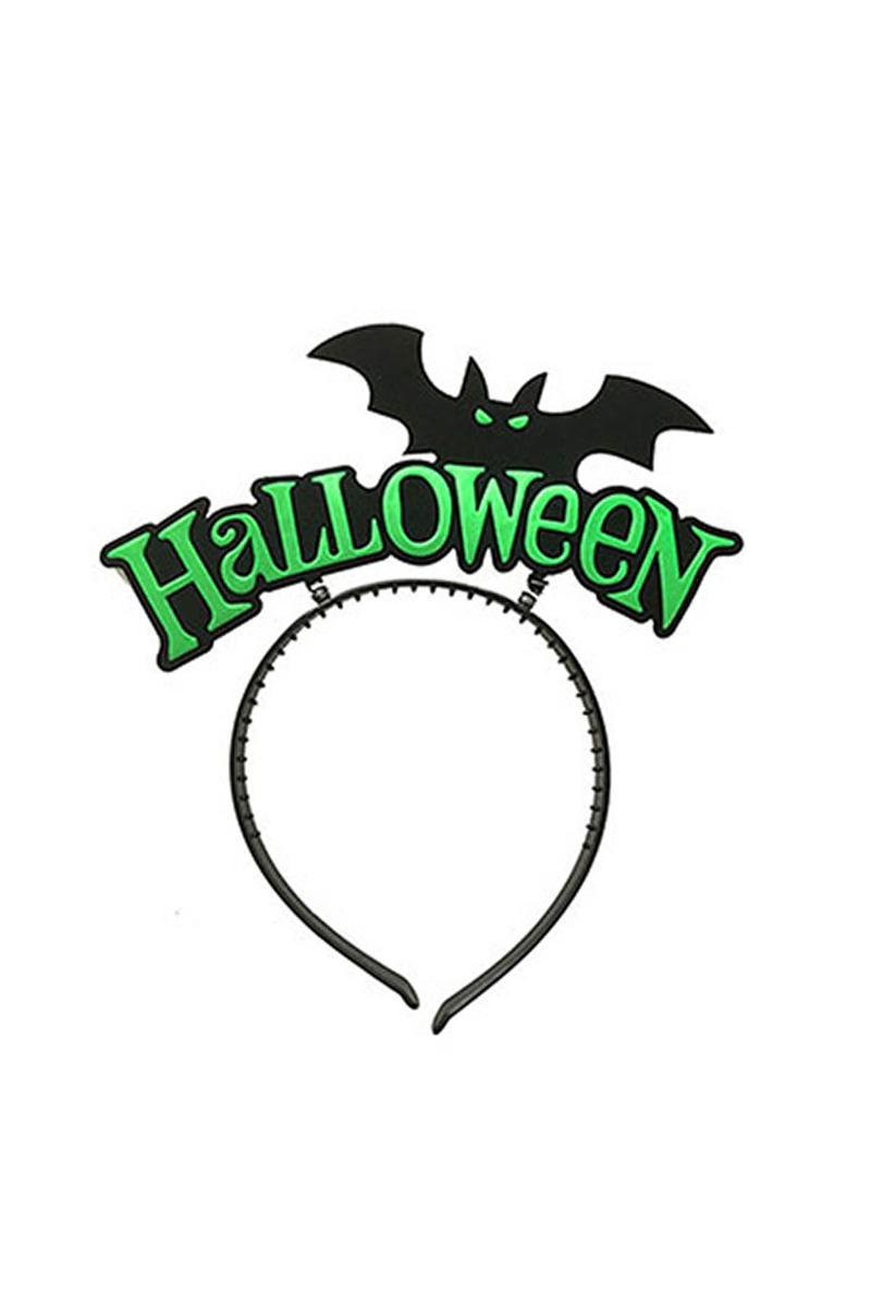 Cadılar Bayramı - Halloween Yarasa Yeşil Parti Taç 1 Adet