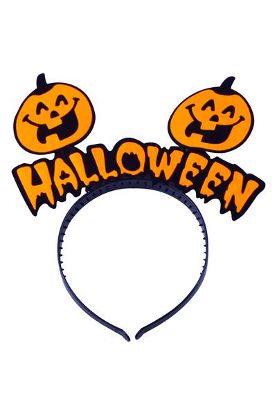 Halloween Yazılı Balkabağı Parti Taç 1 Adet
