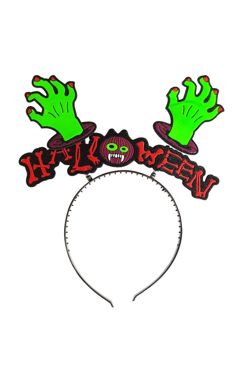 Halloween Yazılı Canavar Eli Figürlü Taç 1 Adet