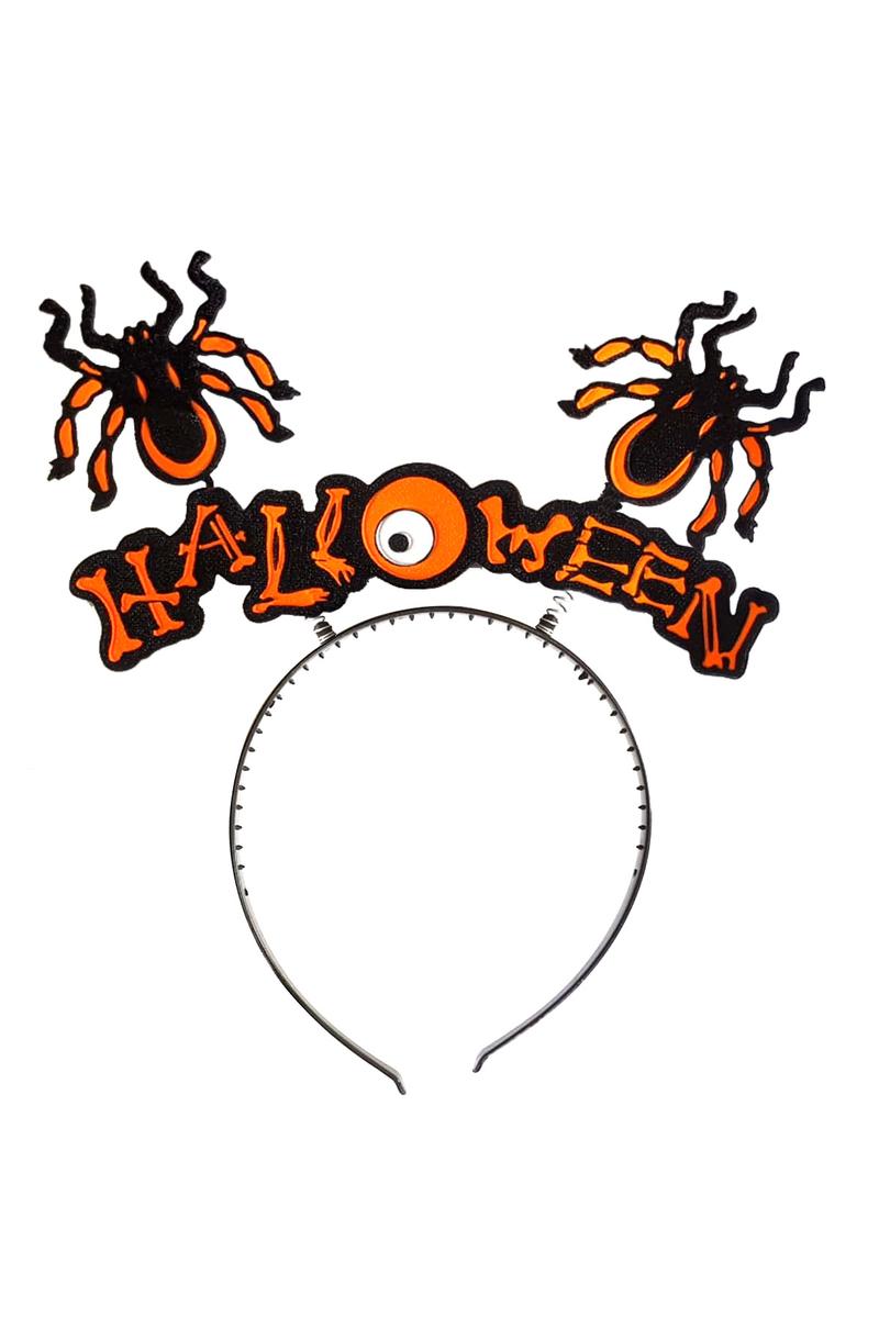 Halloween Yazılı Örümcek Figürlü Taç 1 Adet