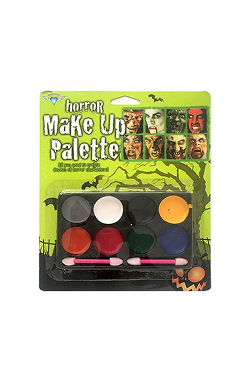 Halloween Yüz Boyama Seti 8li Palet 1 Adet