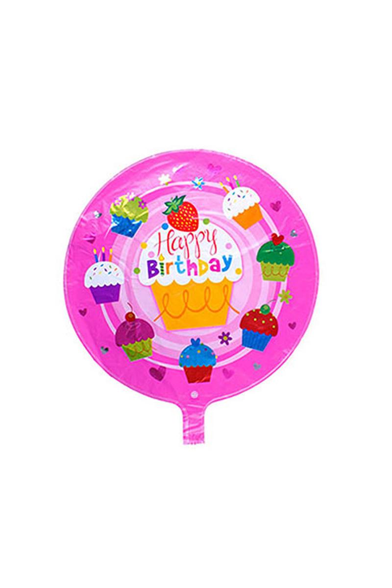 Happy Birthday Cupcake Folyo Balon 1 Adet
