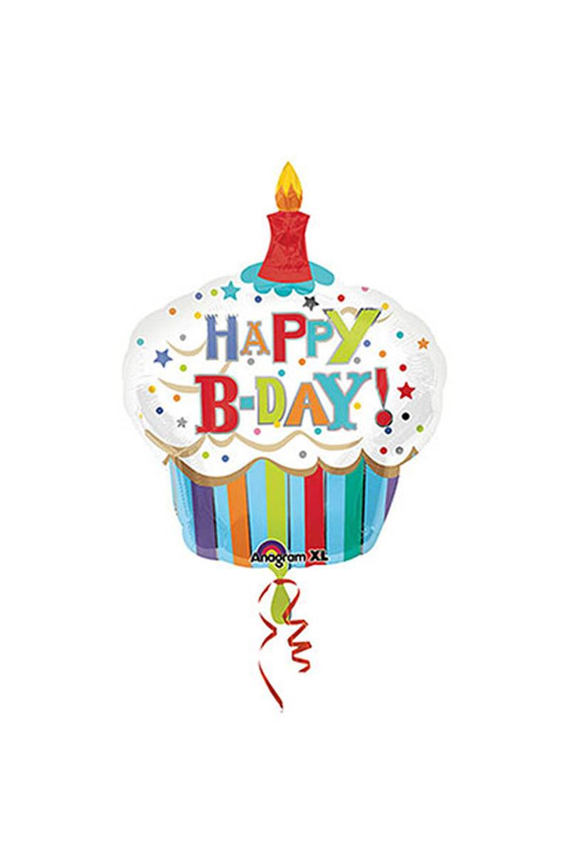 Happy Birthday Cupcake Super Shape Folyo Balon 74cm x 91cm 1 Adet