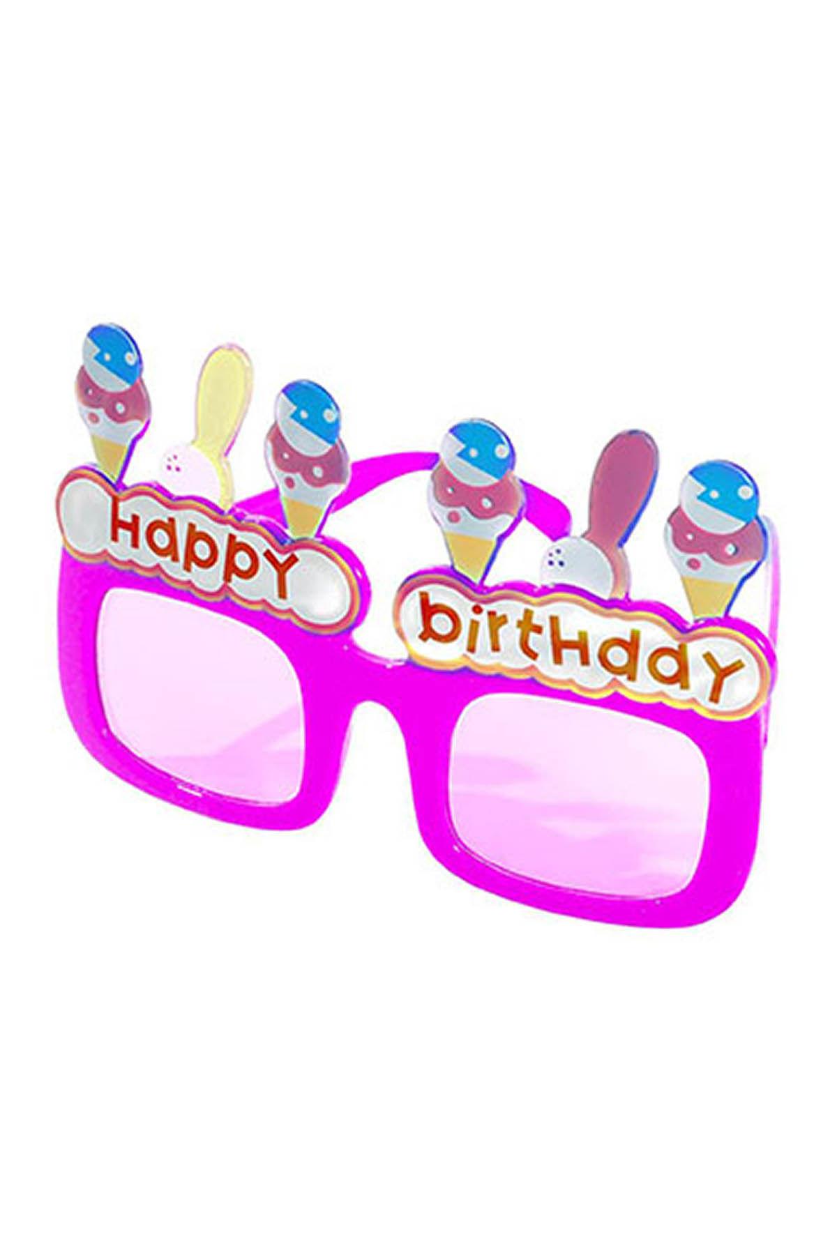 Happy Birthday Dondurmalı Gözlük