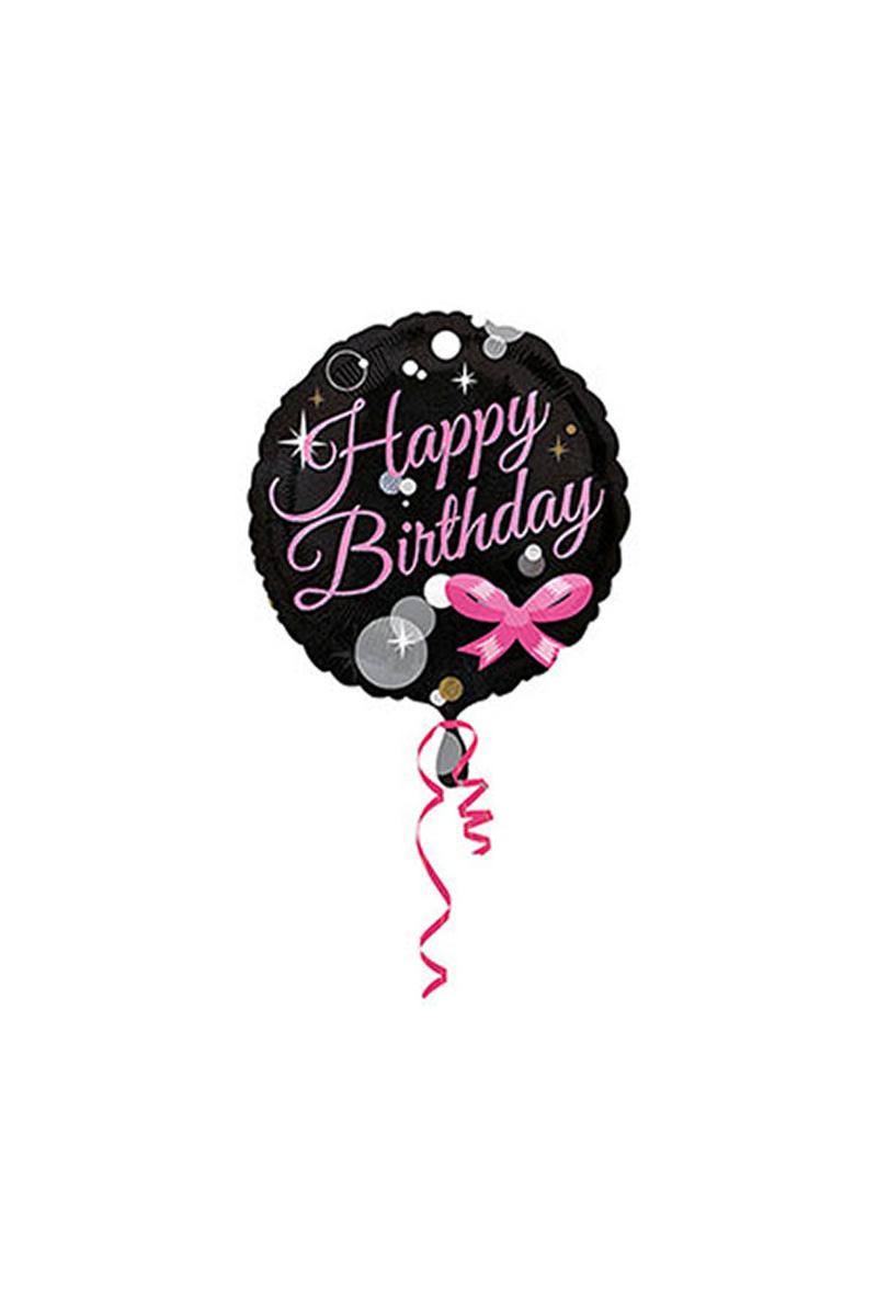 Happy Birthday Fiyonklu Folyo Balon 43cm 1 Adet