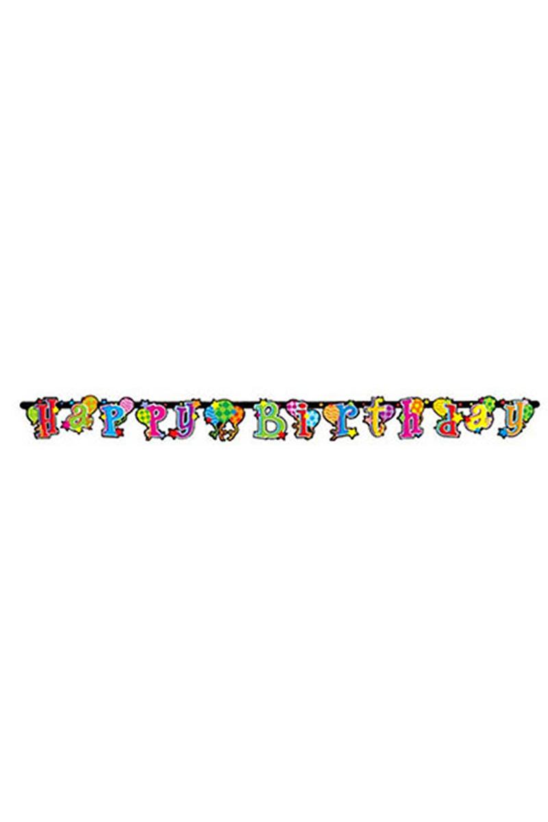 Happy Birthday Neşeli Harf Afiş 1 Adet