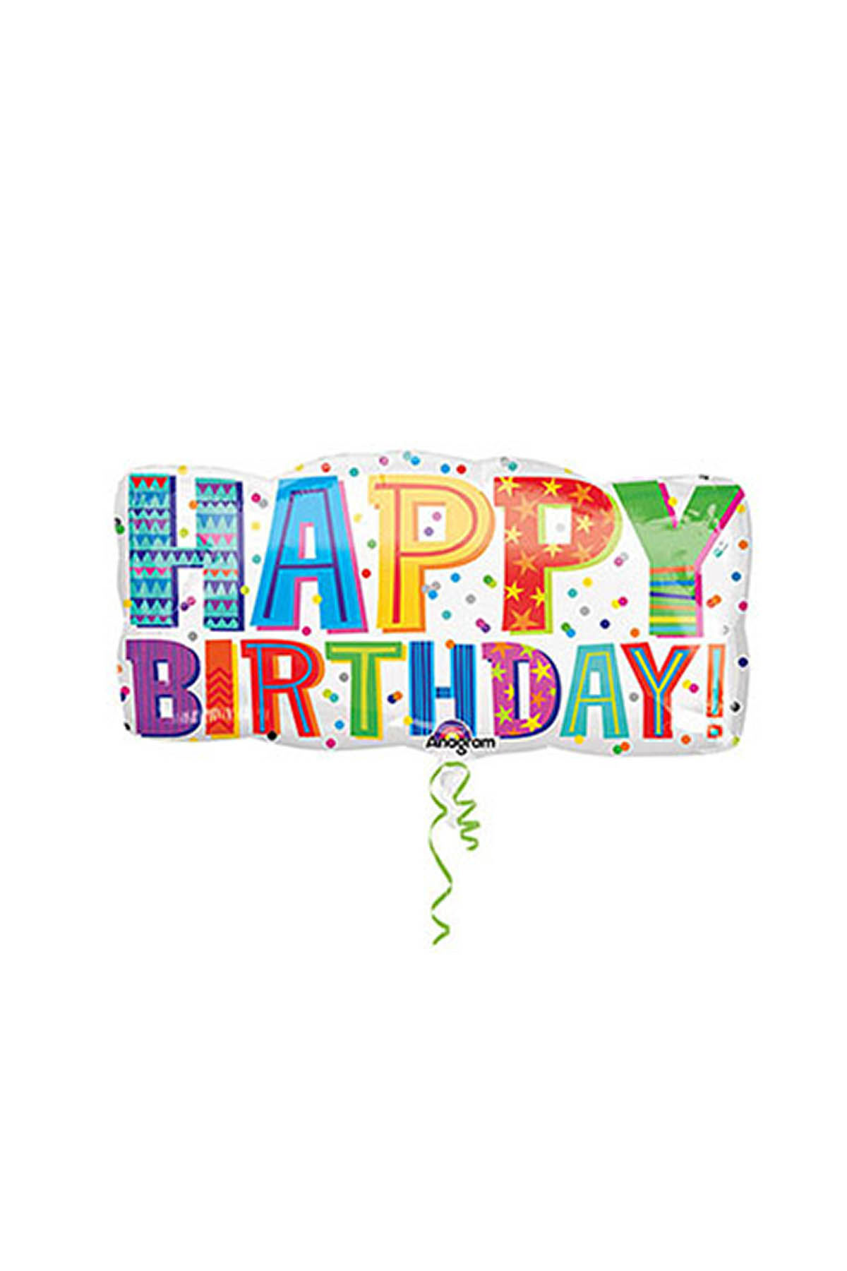 Happy Birthday Neşeli SuperShape Folyo Balon