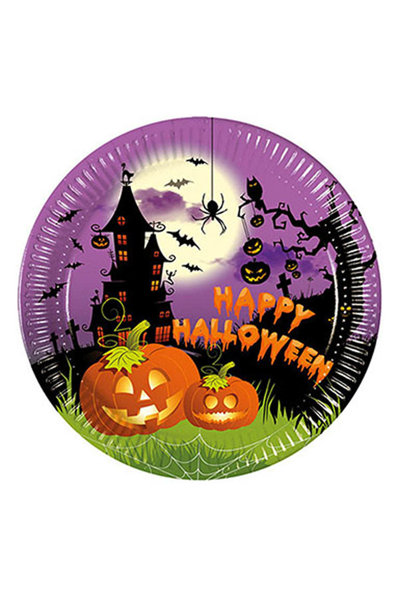 Happy Halloween Kağıt Tabak 23cm 8li