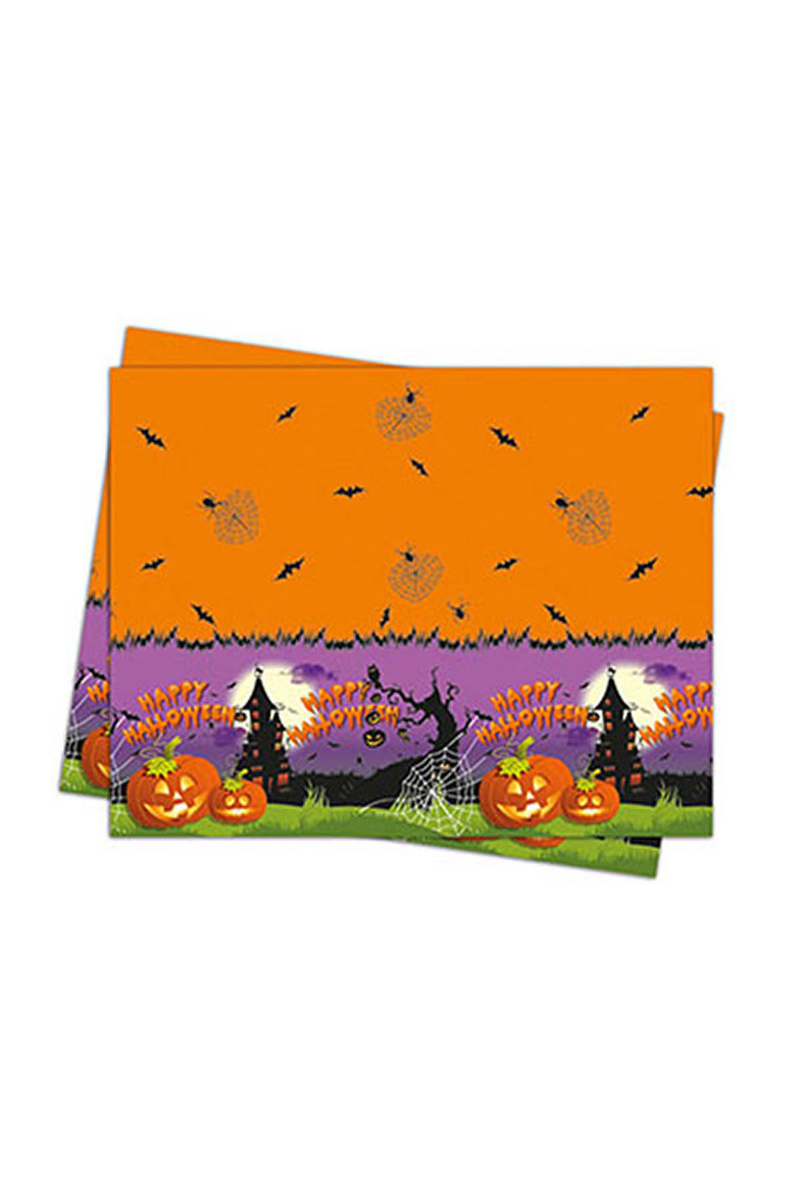 Happy Halloween Plastik Masa Örtüsü 120x180cm 1 Adet