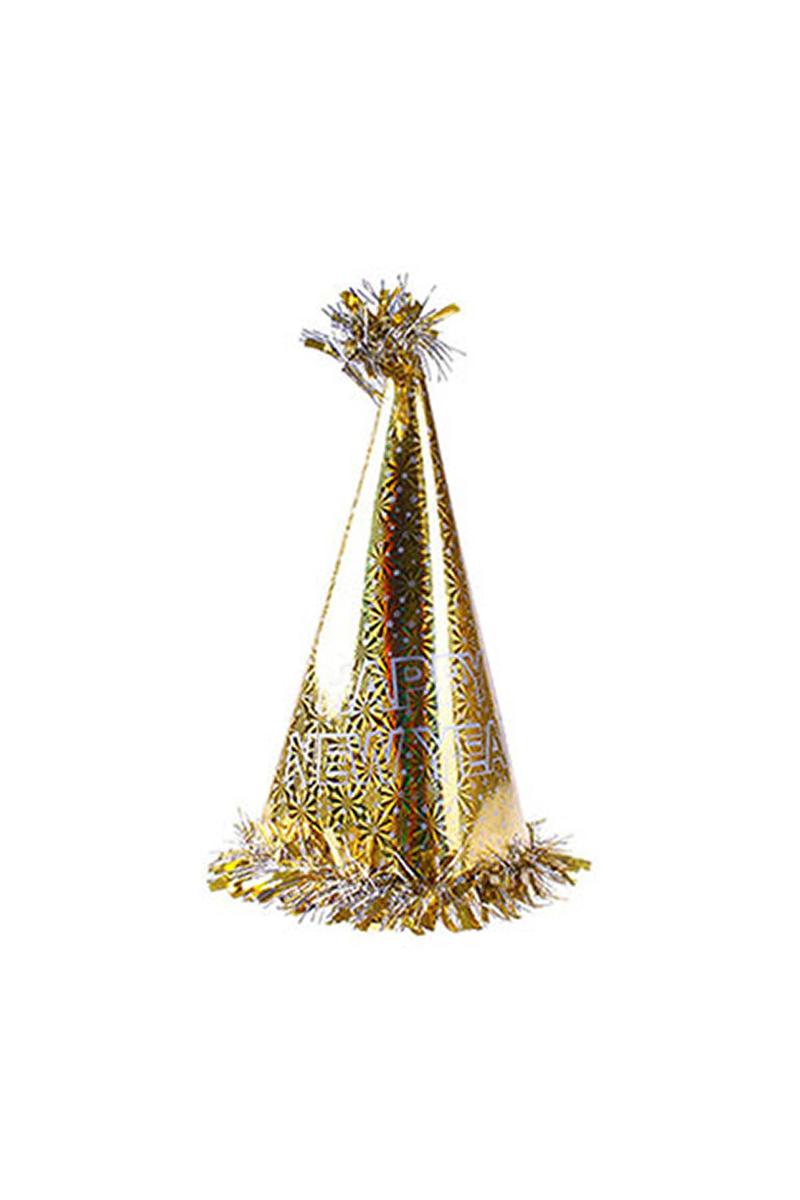 Happy New Year Altın Yılbaşı Şapkası 1 Adet