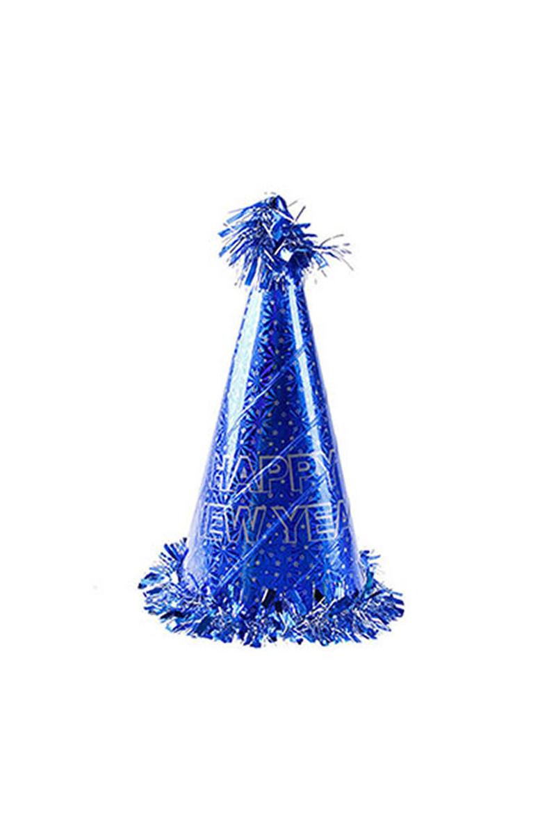 Happy New Year Mavi Yılbaşı Şapkası 1 Adet