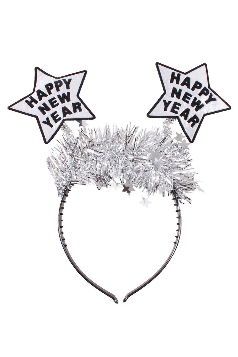 Happy New Year Yıldız Taç Gümüş 1 Adet