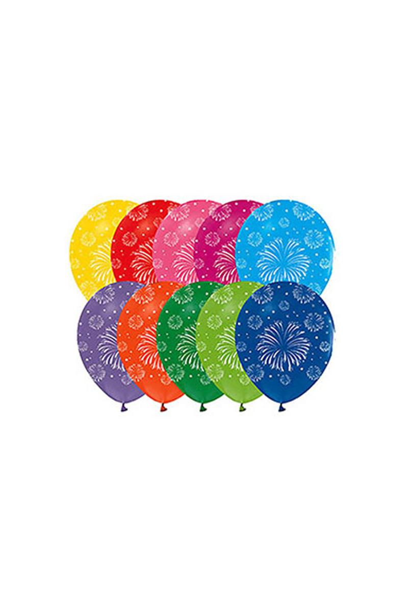Havai Fişek Baskılı Balon 10lu