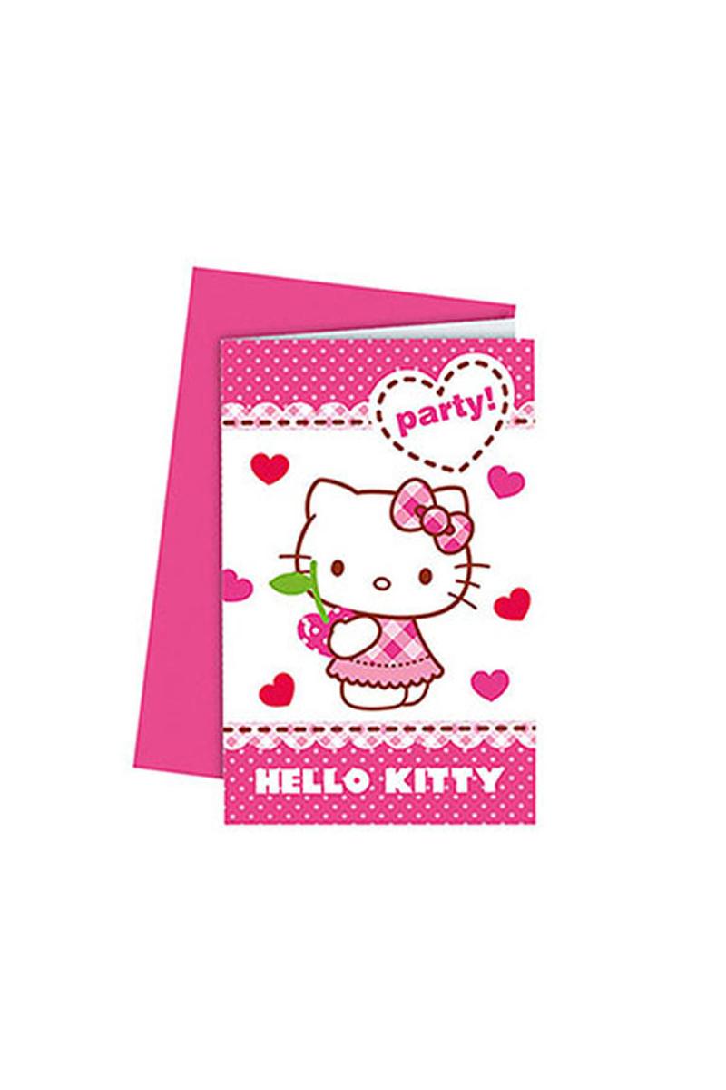 Hello Kitty Kalpler Davetiye 6lı