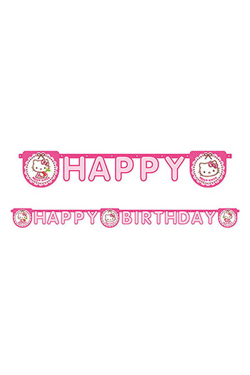 Hello Kitty Kalpler Happy Birthday Harf Afiş 1 Adet