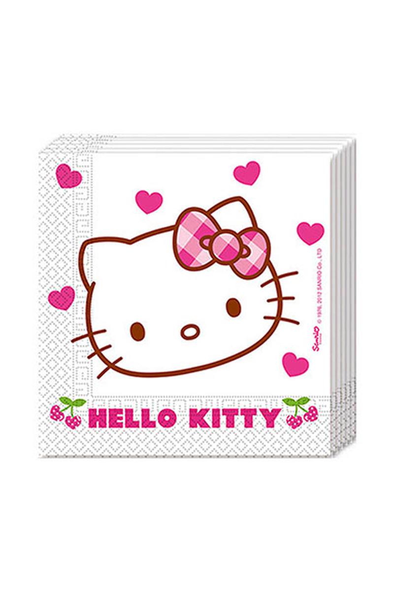 Hello Kitty Kalpler Kağıt Peçete 33x33cm 20li