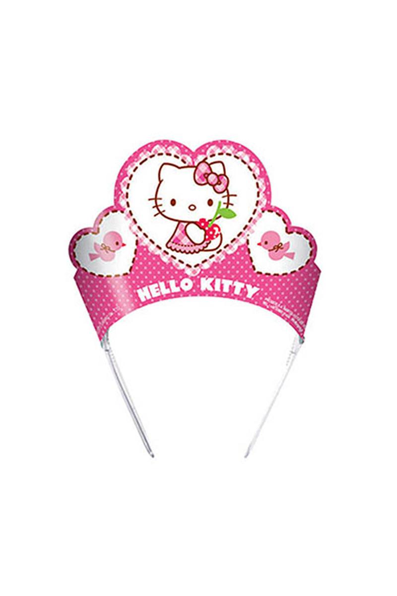 Hello Kitty Karton Taç 6lı