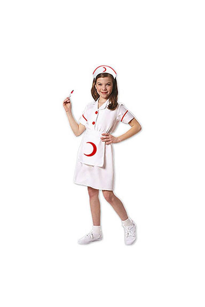 Hemşire Çocuk Kostümü 5-6 Yaş 1 Adet