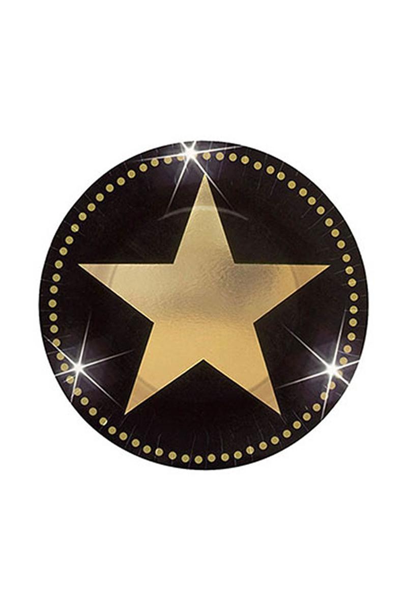 Hollywood Yıldızı Küçük Kağıt Tabak 23cm 8li