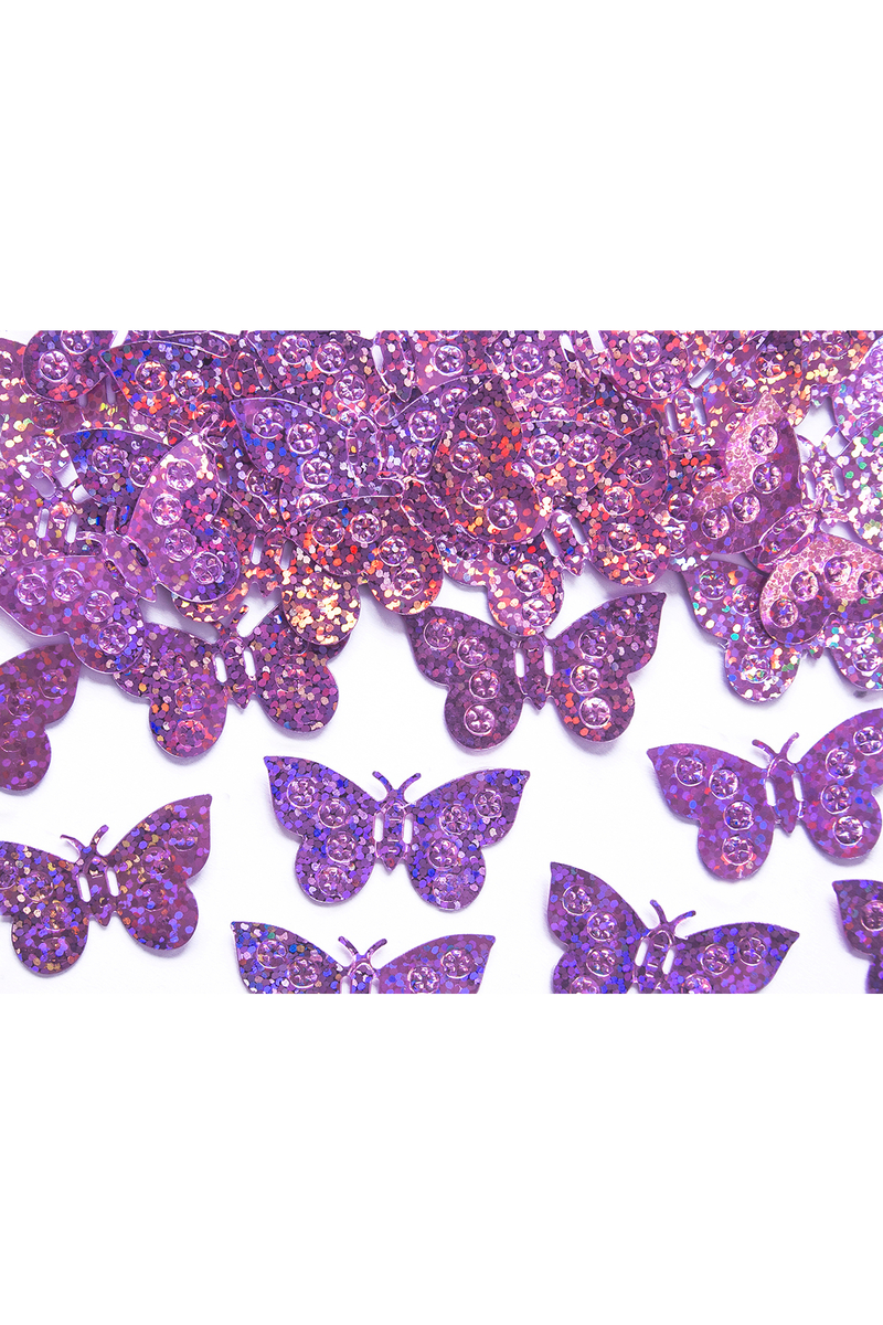 Hologramlı Pembe Kelebekler Masa Konfeti 15gr