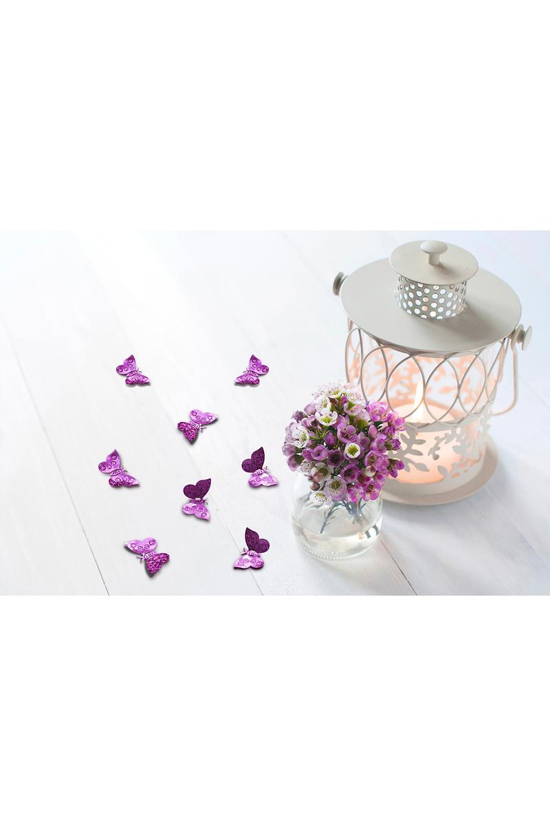 Hologramlı Pembe Kelebekler Masa Konfeti 15gr - Thumbnail