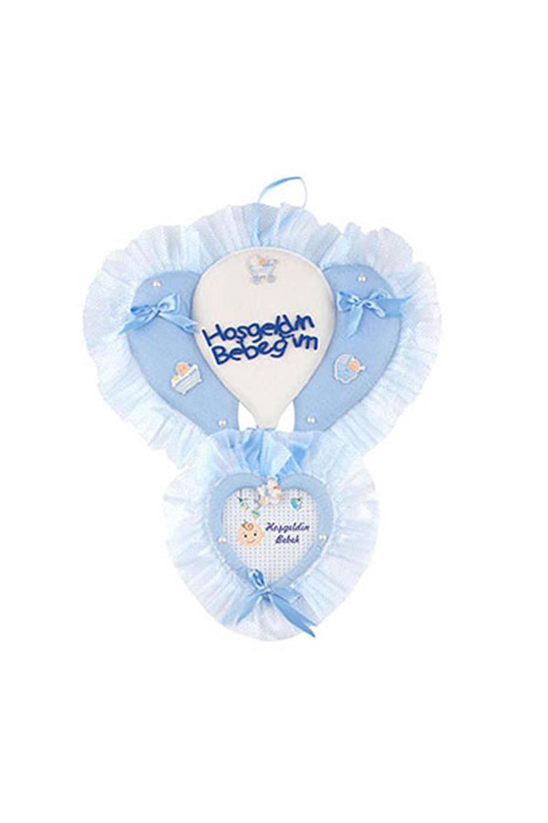 Hoşgeldin Bebeğim Mavi Balonlu Kapı Süsü 1 Adet