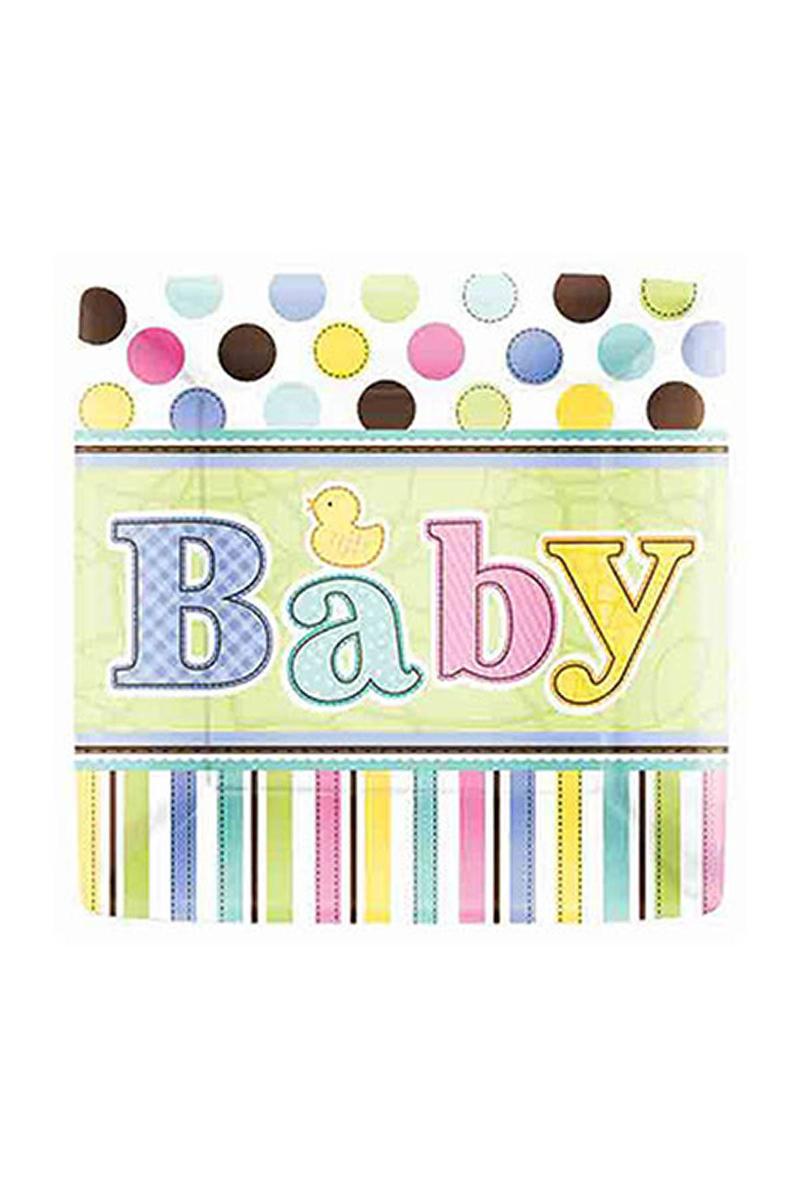 Hoşgeldin Bebek Karton Tabak 8li