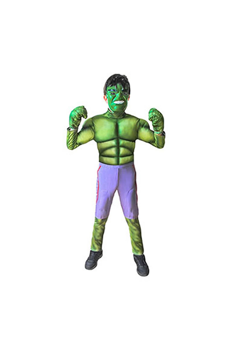 Hulk Çocuk Kostüm 4-6 Yaş 1 Adet