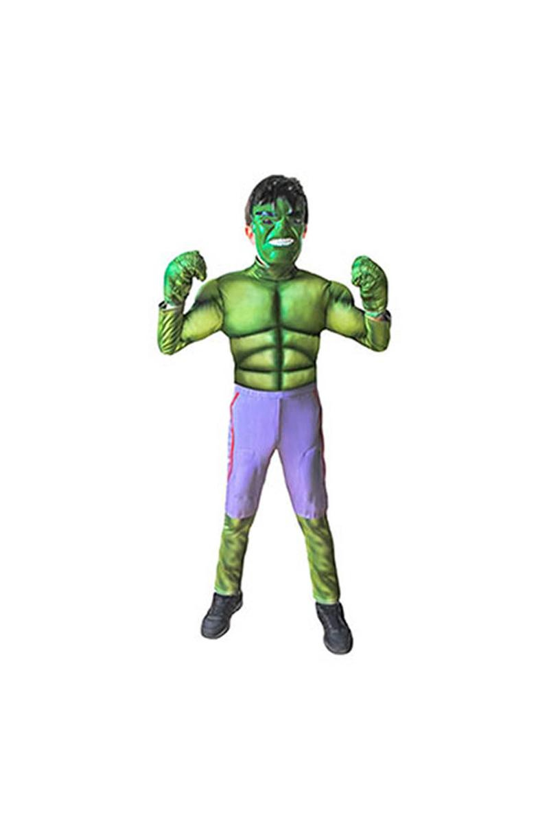 Hulk Çocuk Kostüm 7-9 Yaş 1 Adet
