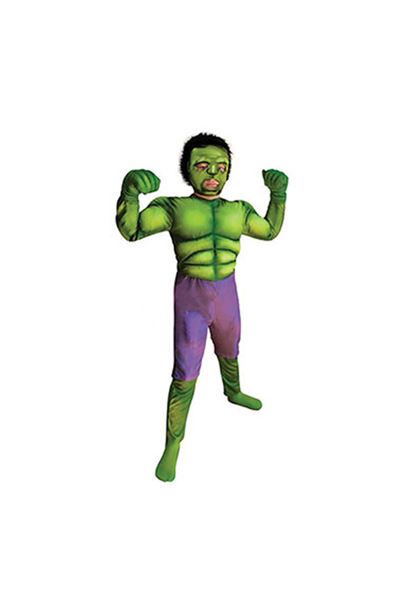 Hulk Çocuk Maskeli Kostüm 7-9 Yaş 1 Adet