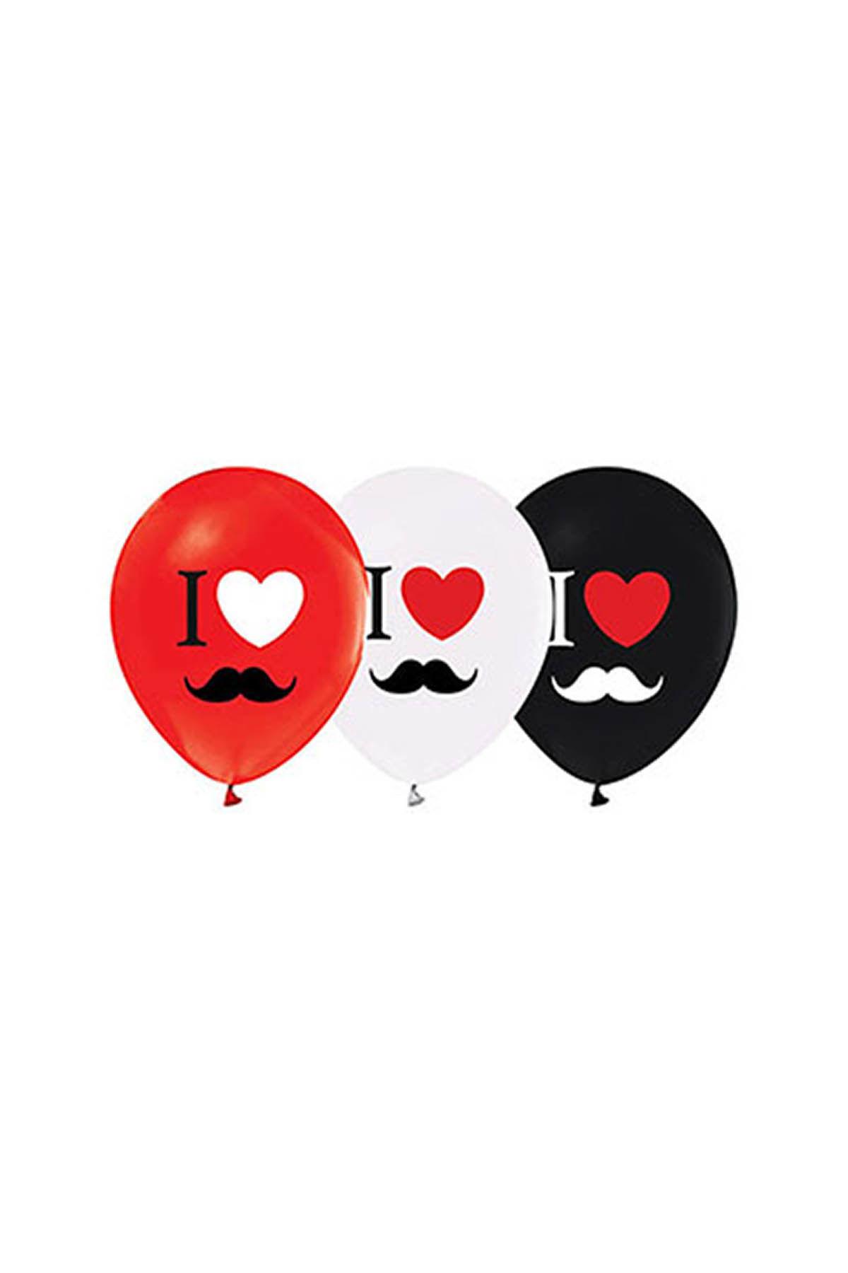 I Love Bıyık Balon