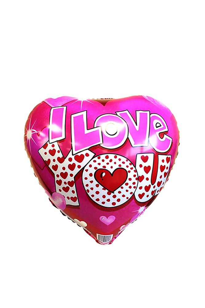 Pembe I Love You Kalp Folyo Balon 1 Adet