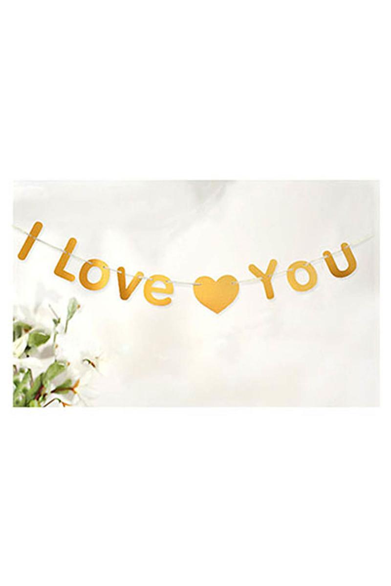 I Love You Yazı İp Süs Altın 3m 1 Adet