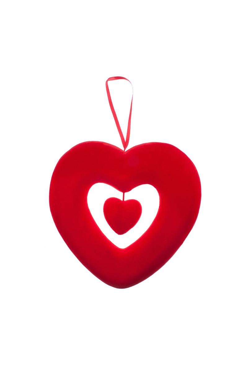 İç İçe Kalp Dekor Süs 1 Adet