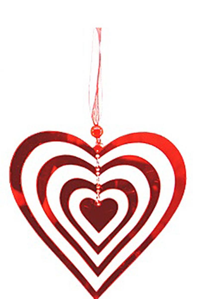 İç İçe Kalpler Cam Asma Dekor Süs 1 Adet