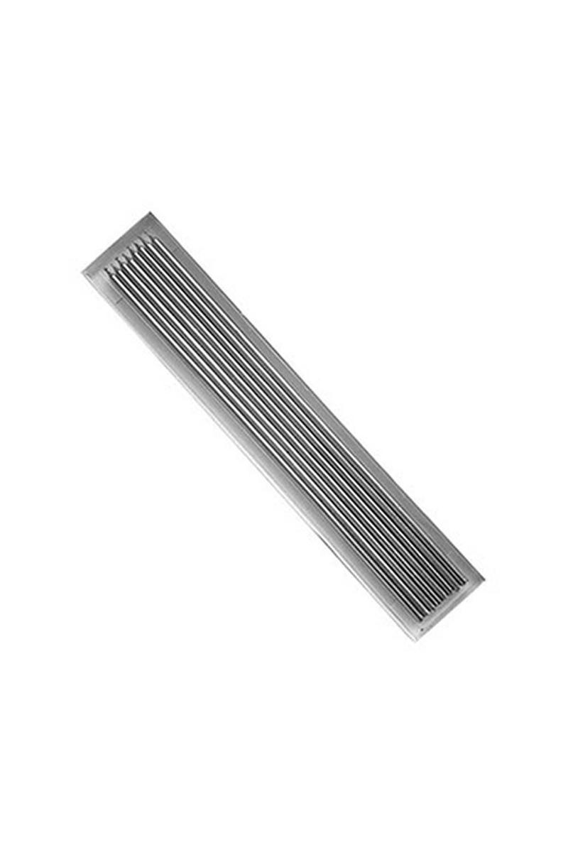 İnce Uzun Mum Gümüş 30cm 8li