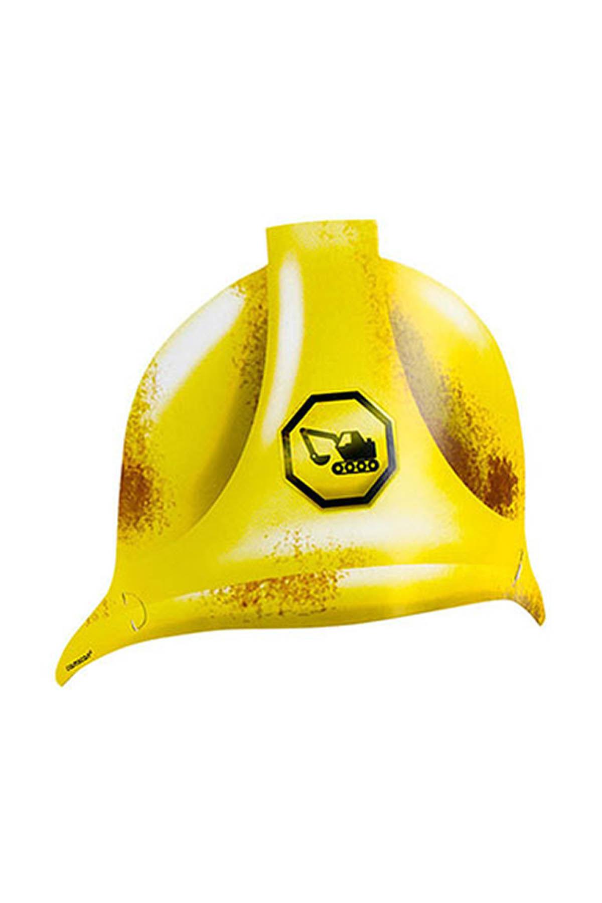 İnşaat Alanı Karton Kask Şapka