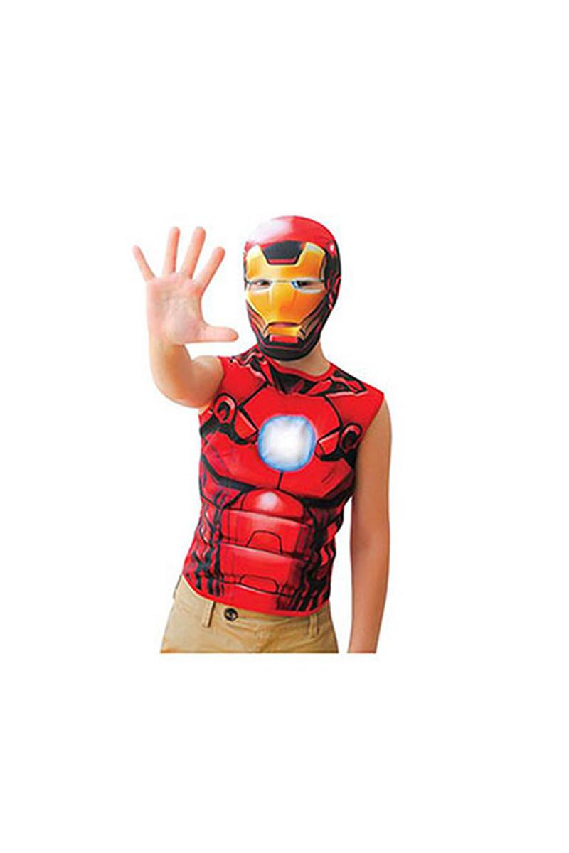Iron Man Kısa Kollu Çocuk Kostüm 7-9 Yaş 1 Adet
