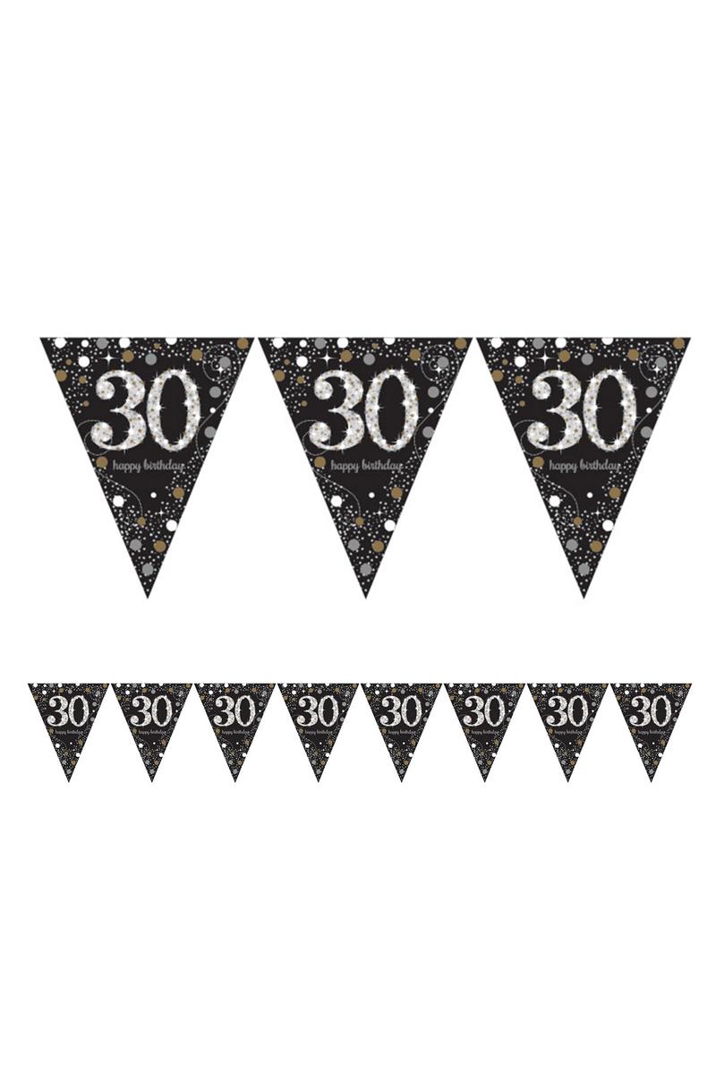 Işıltılı Doğumgünüm 30 Yaş Bayrak Afiş 1 Adet