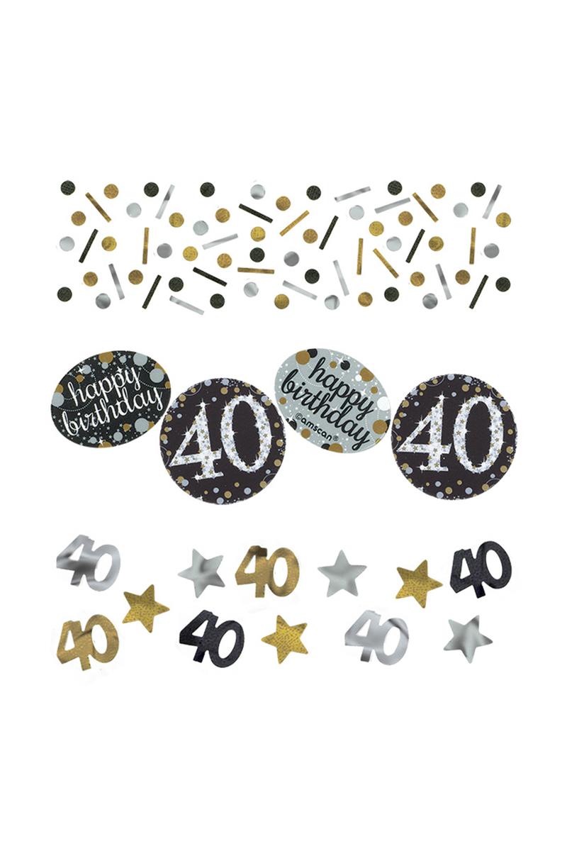 Işıltılı Doğumgünüm 40 yaş Masa Konfeti 15gr