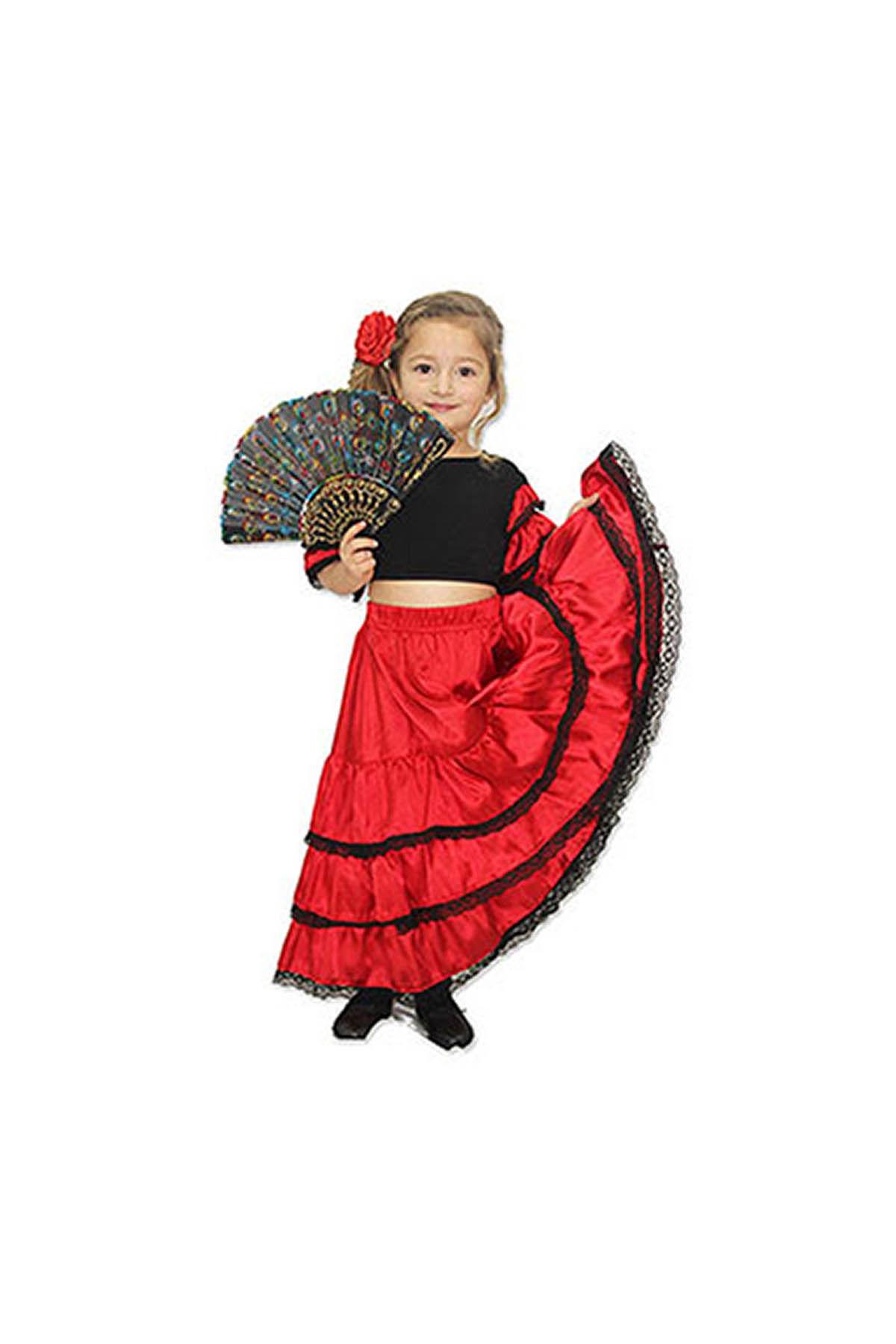İspanyol Kız Çocuk Kostümü 9-10 Yaş
