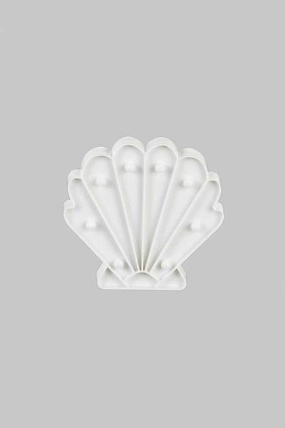İstiridye Şekilli Beyaz Dekoratif Led Işık 19x18cm 1 Adet