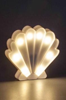 İstiridye Şekilli Beyaz Dekoratif Led Işık 19x18cm 1 Adet - Thumbnail