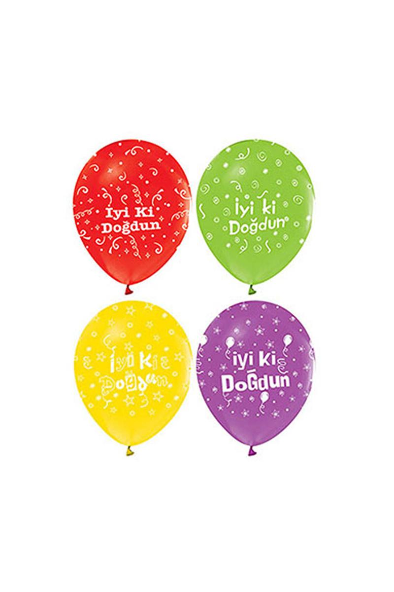 İyi ki Doğdun Baskılı Balon 10lu - Thumbnail