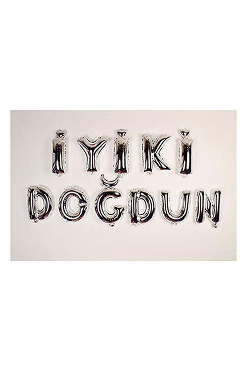 İyi ki Doğdun Gümüş Harf Folyo Balon Set 35cm 11li