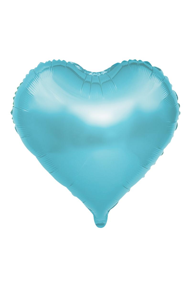 Kalp Folyo Balon 60cm (22 inch) Açık Mavi 1 Adet