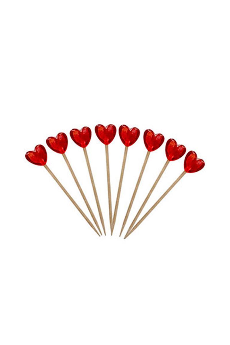 Kalp Kürdan Kırmızı 8li