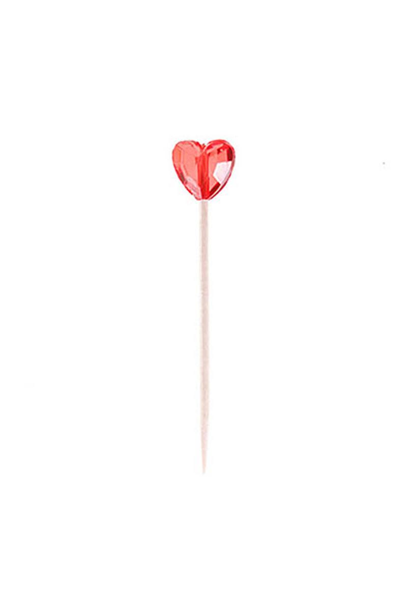 Kalp Kürdan Kırmızı 8li - Thumbnail