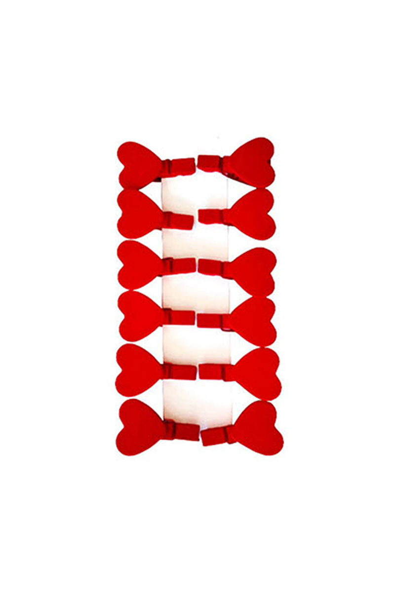 Kalp Mandal Kırmızı 10lu