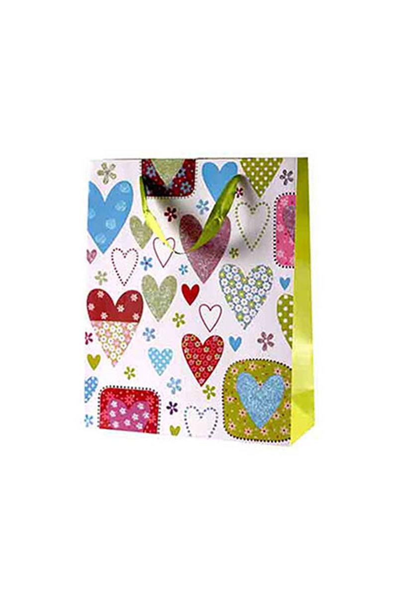 Kalpler Dünyası Yeşil Karton Çanta 1 Adet